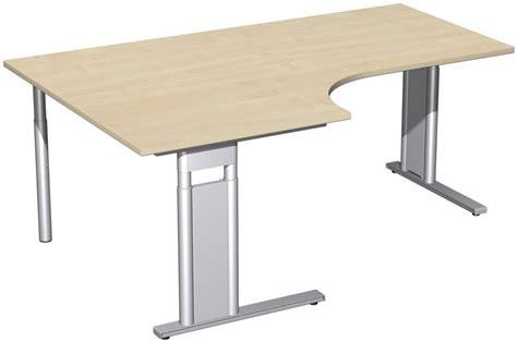 Schreibtisch Abgerundet by Pc Schreibtisch Links H 246 Henverstellbar C Fu 223 Blende