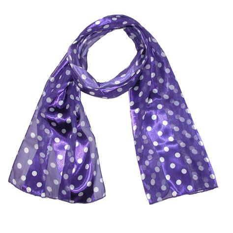 womens satin polka dot scarf by ctm 174 fashion scarves