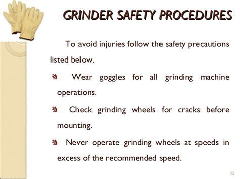 bench grinder safety procedures safety operating procedures bench grinder bench grinder