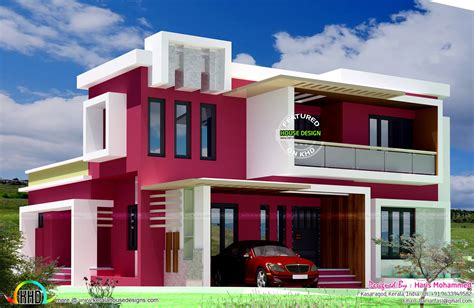 home design com box type contemporary home kerala home design and floor