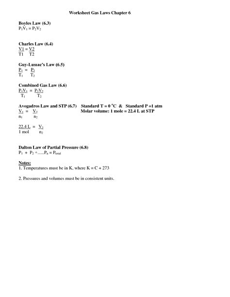 Boyle S Worksheet
