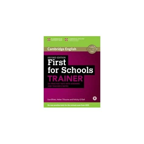 first for schools trainer first for schools trainer second edition teachers notes