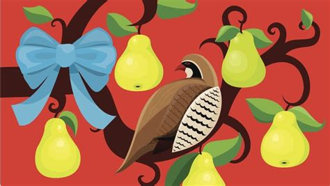 the twelve days of christmas day 1 a partridge in a pear