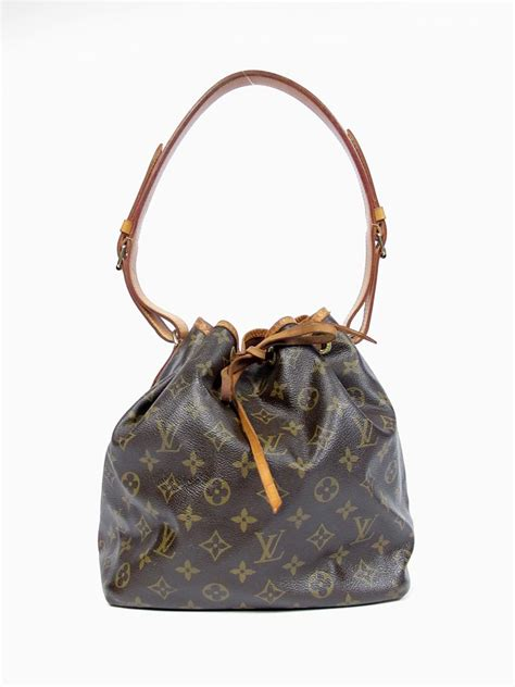 authentic louis vuitton monogram canvas noe drawstring