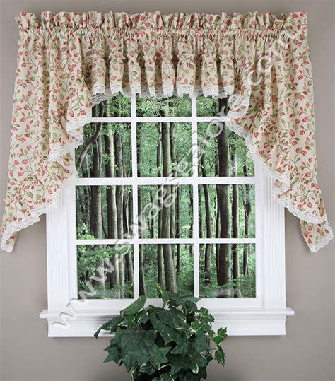 ruffled kitchen curtains clarice ruffled curtain swag violet ellis jabot