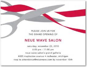 ribbon cutting corporate event invitations in red