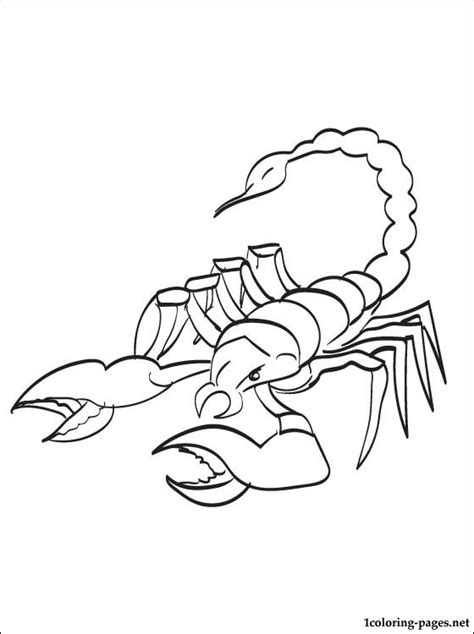 scorpion king coloring page scorpion color pages