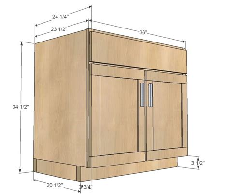 Kitchen Base Cabinet Plans Free | ana white build a kitchen cabinet sink base 36 full