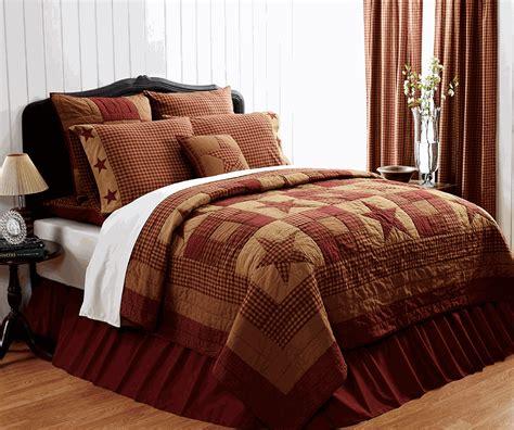 Primitive Bedding Sets Sale Ninepatch Burgundy Primitive Quilt
