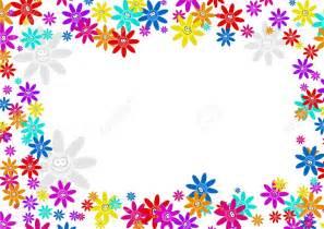 colourful decorative cartoon floral flower frame border