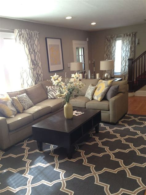 grey yellow green living room best 25 sectional sofa layout ideas on pinterest coffee