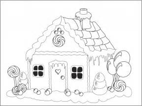 gingerbread house coloring pages free printable house coloring pages for