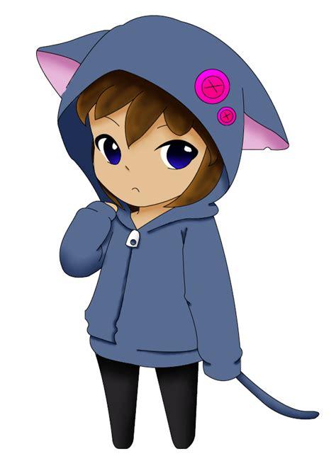 Jaket Hoodie Kpop Cn Blue Chibi chibi in a cat vest by sannyvire on deviantart