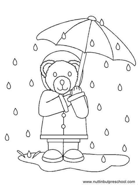 preschool coloring pages rain drudge report co rain bear coloring page offered on nuttin but preschool