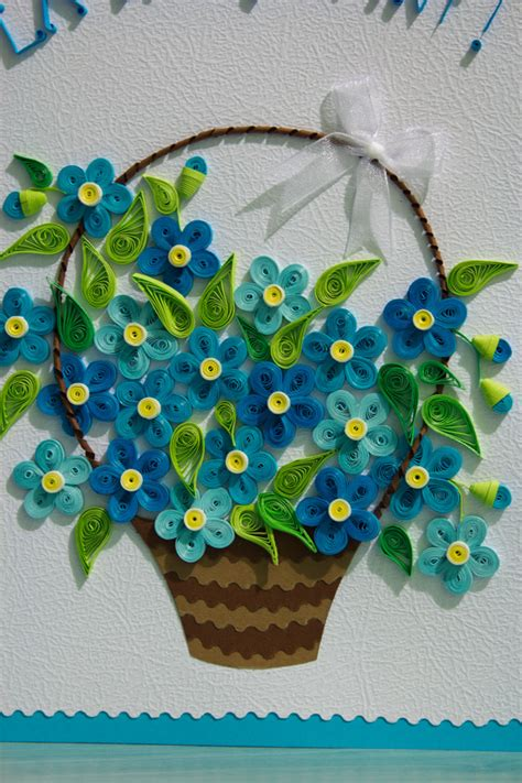 How To Make Paper Flower Basket - quilled flower basket paper trail flower