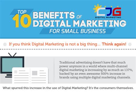 Benefits Of Mba In Marketing by Top 10 Benefits Of Digital Marketing For Small Business