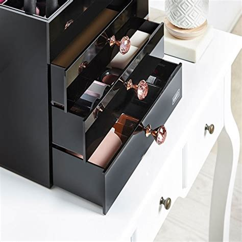 black acrylic makeup drawers beautify large black acrylic cosmetic makeup organizer