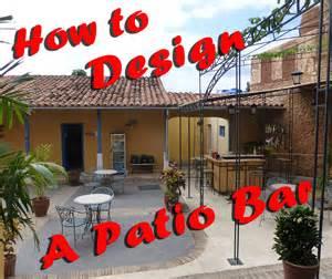 how to design a patio bar