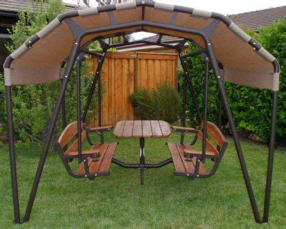 outdoor patio swings and gliders sunset swings 460gn glider 6 person patio set swing sand
