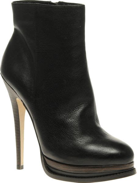 aldo aldo gutirrez high heeled leather ankle boots in