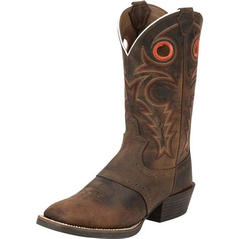 shop mens whiskey buffalo justin boot company cowboy boots
