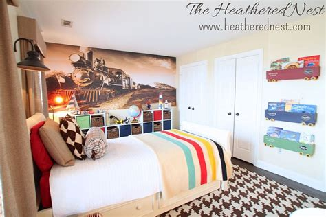 railroad bedroom hometalk train themed boy s room