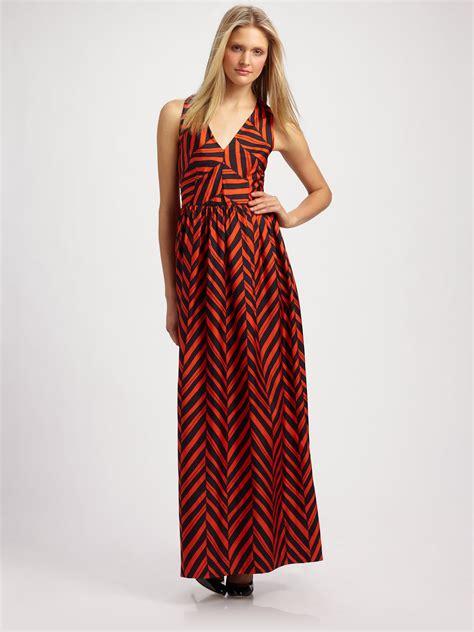 Dress Carolin lyst milly caroline maxi dress in