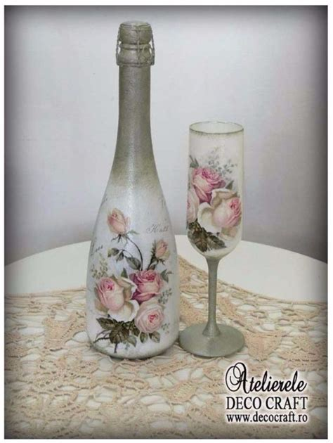 decorate glass bottles  decoupage  family holidaynetguide  family holidays