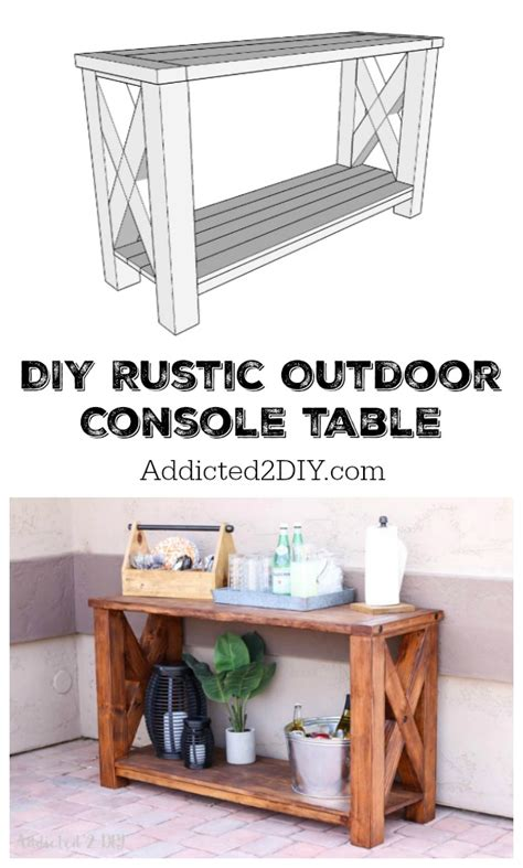 Diy Rustic Outdoor Console Table Great Outdoors