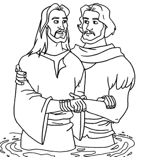 coloring page of john baptizing jesus john the baptism talk to jesus coloring pages best place