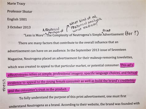 How To Make Analysis Paper - writing a rhetorical analysis of a print ad the mmm