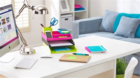 how to organize your desk with a paper flow system