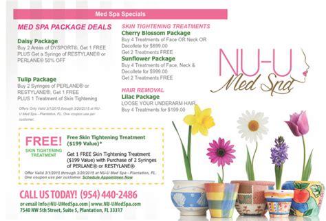 spring spa specials nu u med spa skin tightening treatments spring forward