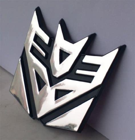 Emblem Decepticon Crom Plastik Dc01 transformers decepticon 3 quot car emblem 3d exterior