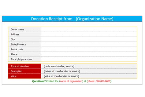 office template donations tracker and receipt generator donation receipt template for word dotxes