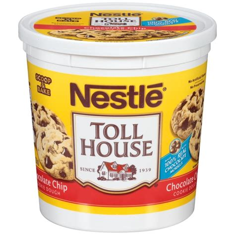 nestle toll house cookie dough toll house chocolate chip cookie dough 5 lb from costco