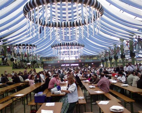 White Party Decor Oktoberfest Opening Ochsenbraterei Tent It Starts At 9