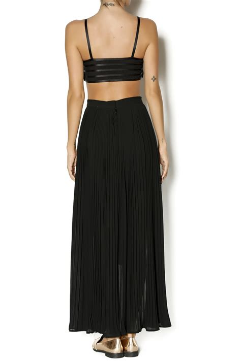 Pleats By K L A M B Y moon collection pleated maxi skirt shoptiques