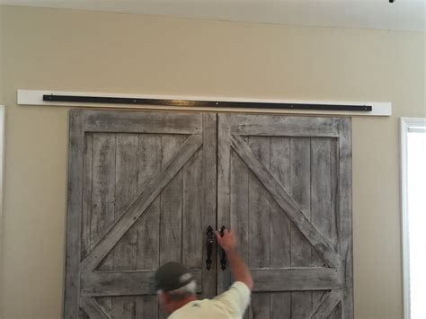 Faux Barn Door Cheaper And Better Diy Barn Door Headboard And Faux Barn Door Track Hardware