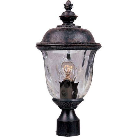 Cast Outdoor Lighting Maxim Lighting Carriage House Die Cast 1 Light Rubbed Bronze Outdoor Pole Post Mount