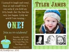1st birthday invitation wording for baby boy baby birthday photo invitation