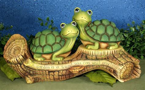 garden turtles ping pong unfinished ceramic statue crafts