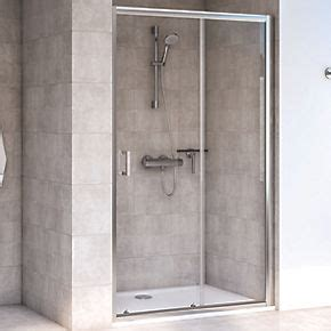 Aqualux Shine 6 Sliding Shower Door Polished Silver 1000 X Screwfix Shower Doors