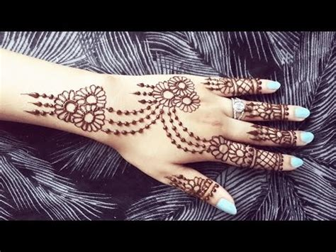 pretty henna design jewelery inspired mehendi tattoo