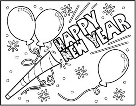 new year picture to colour printable new year 2018 coloring pages