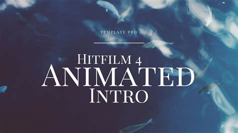 free animated intro templates hitfilm 4 free 2d animated intro template
