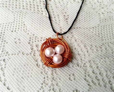 diy wire jewelry diy birds nest pendant 183 how to make a wire necklace