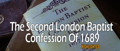 commentary on the second baptist confession of faith of