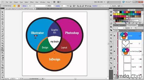 illustrator tutorial live paint illustrator using the live paint bucket tool lynda com