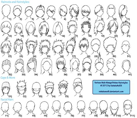 various male anime manga hairstyles by elythe on deviantart